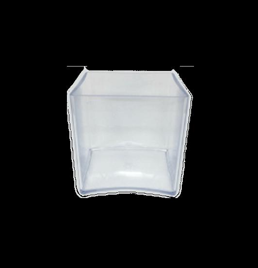 15C Clear Cube   Dishes   Andrew Plastics