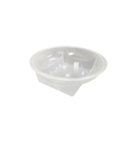 Clear Square Round Dish with Holes | Dishes | Andrew Plastics